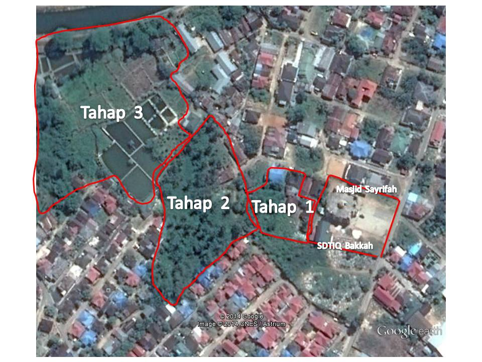 Peta Lokasi Pembebasan lahan